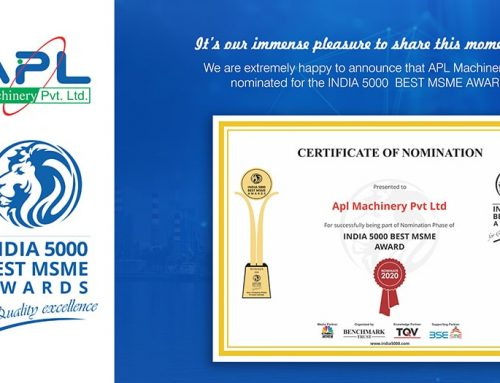 Nominated for INDIA 5000 BEST MSME AWARDS, 2020.