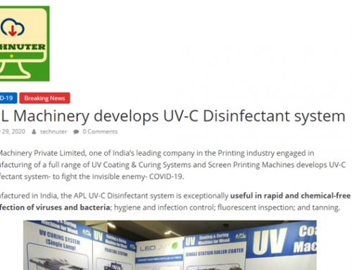 APL Machinery develops UV-C Disinfectant system – technuter.com